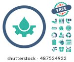 water service gear pictograph...   Shutterstock .eps vector #487524922