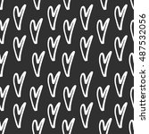 abstract seamless heart pattern.... | Shutterstock .eps vector #487532056
