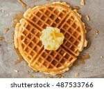 close up of rustic traditional... | Shutterstock . vector #487533766