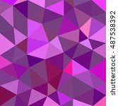 polygonal abstract background.... | Shutterstock .eps vector #487538392