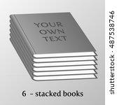isolated 3d books illustration. ... | Shutterstock .eps vector #487538746