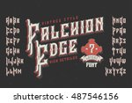 vintage style font. retro... | Shutterstock .eps vector #487546156