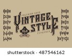 vintage style font. retro... | Shutterstock .eps vector #487546162