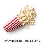 Tasty Salted Popcorn In Stripe...