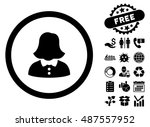 woman pictograph with free... | Shutterstock .eps vector #487557952