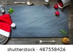 christmas abstract culinary... | Shutterstock . vector #487558426