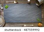 old retro culinary menu... | Shutterstock . vector #487559992
