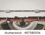 Detail Of Vintage Typewriter...
