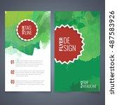 abstract vector brochure... | Shutterstock .eps vector #487583926