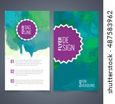 abstract vector brochure... | Shutterstock .eps vector #487583962