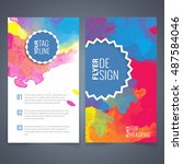 abstract vector brochure... | Shutterstock .eps vector #487584046