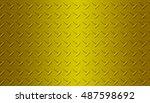 glod metal background steel...   Shutterstock . vector #487598692