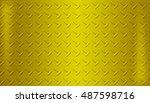 glod metal background steel...   Shutterstock . vector #487598716
