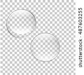 transparent bubbles vector... | Shutterstock .eps vector #487603255