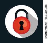 warning secure password system... | Shutterstock .eps vector #487606288