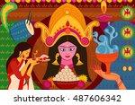 vector illustration of happy...   Shutterstock .eps vector #487606342