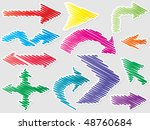 different shape of arrows | Shutterstock .eps vector #48760684