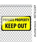 private property sign   Shutterstock .eps vector #48761269
