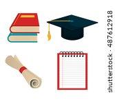 set education elements graphic... | Shutterstock .eps vector #487612918