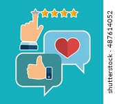 vector set of customer service... | Shutterstock .eps vector #487614052