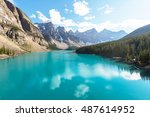 beautiful turquoise waters of... | Shutterstock . vector #487614952