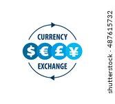 vector logo currency exchange | Shutterstock .eps vector #487615732