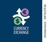vector logo currency exchange | Shutterstock .eps vector #487615936