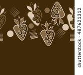 horizontal seamless pattern of... | Shutterstock . vector #487621312