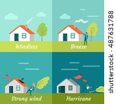 wind strength levels. windless... | Shutterstock .eps vector #487631788