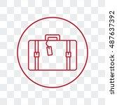 line icon  travel  bag   Shutterstock .eps vector #487637392