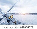 fishing rods | Shutterstock . vector #487638022