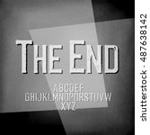end credits. film noir styled... | Shutterstock .eps vector #487638142