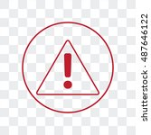 line icon   exclamation danger | Shutterstock .eps vector #487646122