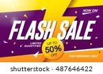 flash sale banner template... | Shutterstock .eps vector #487646422