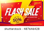flash sale banner template... | Shutterstock .eps vector #487646428