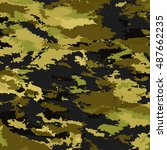 camouflage military background | Shutterstock .eps vector #487662235