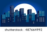 city | Shutterstock .eps vector #487664992