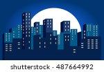 city | Shutterstock .eps vector #487664992