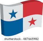 flag of panama  officially...   Shutterstock .eps vector #487665982