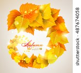 abstract autumn background with ... | Shutterstock .eps vector #487674058