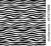 simple curved black and white... | Shutterstock .eps vector #487675888