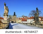 the late snow in march prague   ... | Shutterstock . vector #48768427