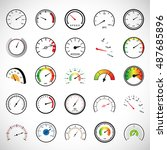 speedometer icons set  ... | Shutterstock .eps vector #487685896