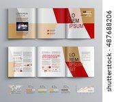 business brochure template... | Shutterstock .eps vector #487688206