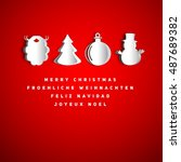 merry christmas holiday... | Shutterstock .eps vector #487689382