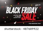 black friday sale banner | Shutterstock .eps vector #487689922