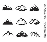 mountains icons isolated on... | Shutterstock .eps vector #487692922