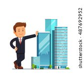 real estate developer... | Shutterstock .eps vector #487692952
