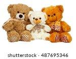 Three Teddy Bears Are Sittin...
