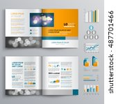 business brochure template... | Shutterstock .eps vector #487701466